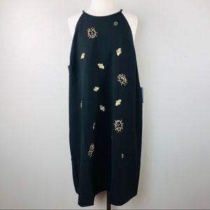Victoria Beckham Black Embellished Bug Bee Dress
